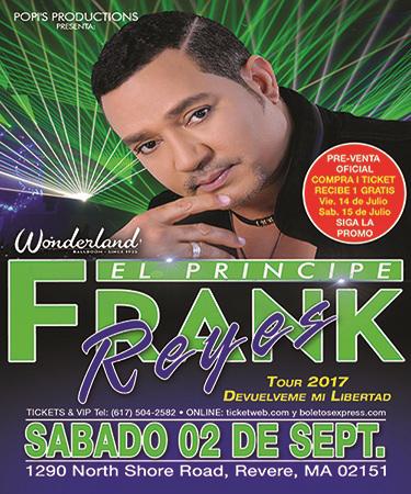 Frank Reyes At Wonderland Ballroom