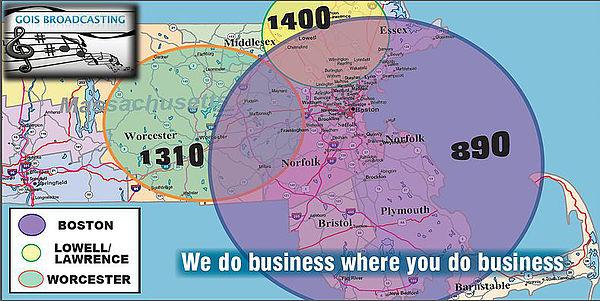 Mega Boston Hispanic Radio Coverage area